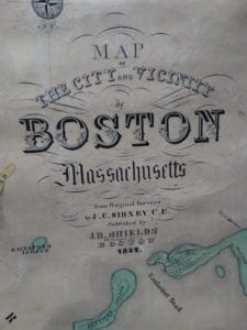 Map of The City and Vicinity of Boston, 1852 (Close Up 1)