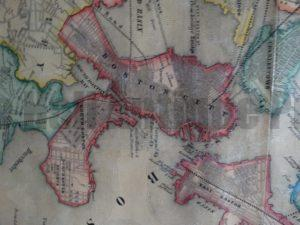 Map of The City and Vicinity of Boston, 1852 (Close Up 2)