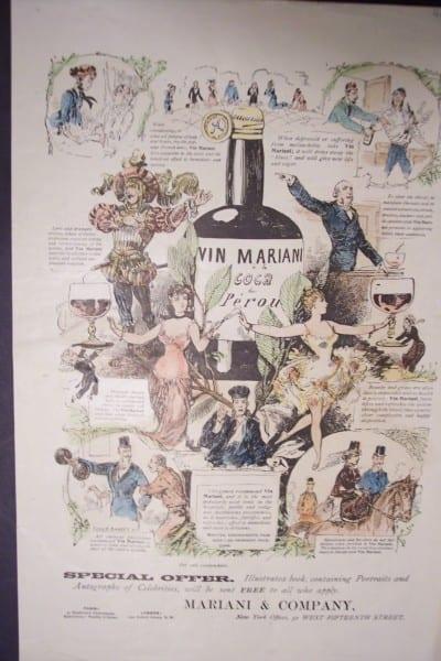 Vin Mariani Advertisement 1893. $85.