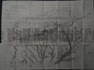 Mesa Verde Map, 1910. $125.