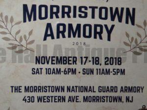 Come see great antiques at the Morristown Armory NJ November 17-18, 2018