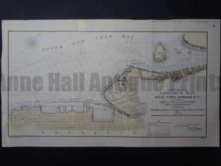 NY Map 1 Gowanus Bay, Red Hook, NY. $250. Click Here to Buy Now.