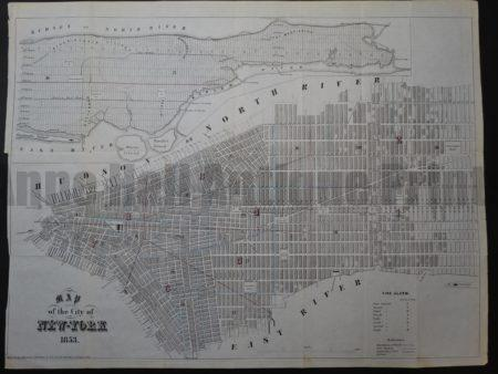 NY Map 2 Map of the City of New York 1853. $250. Click Here to Buy Now.