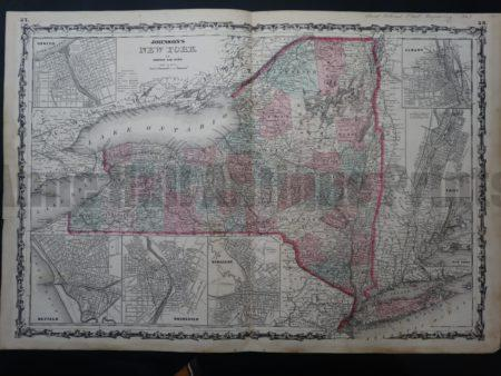 NY Map 6 Johnson and Ward NY State. $150. Click Here to Buy Now.