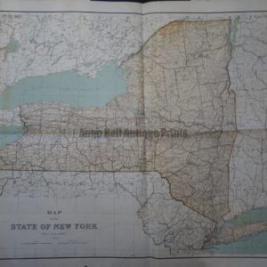 Attractive large map of New York state by Julius Bien lithographer.
