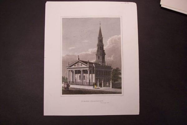 NY, St Pauls, Broadway c.1850