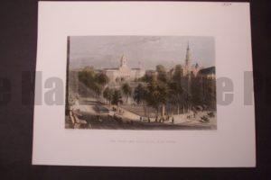 NY, The Park and City Hall 1839