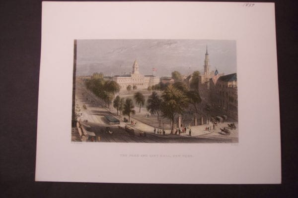 NY, The Park and City Hall 1839