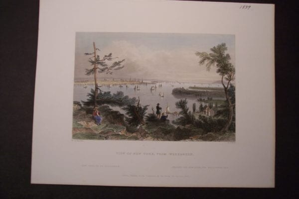 NY View of NY from Weeawken 1839