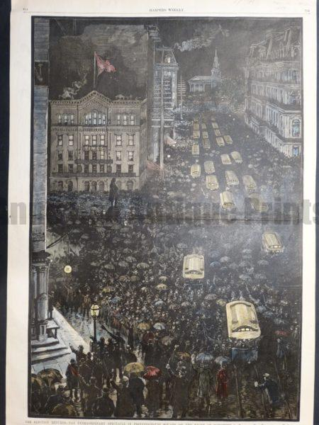 NY105 The Election Returns 1884 $200 Click Here to Buy Now.