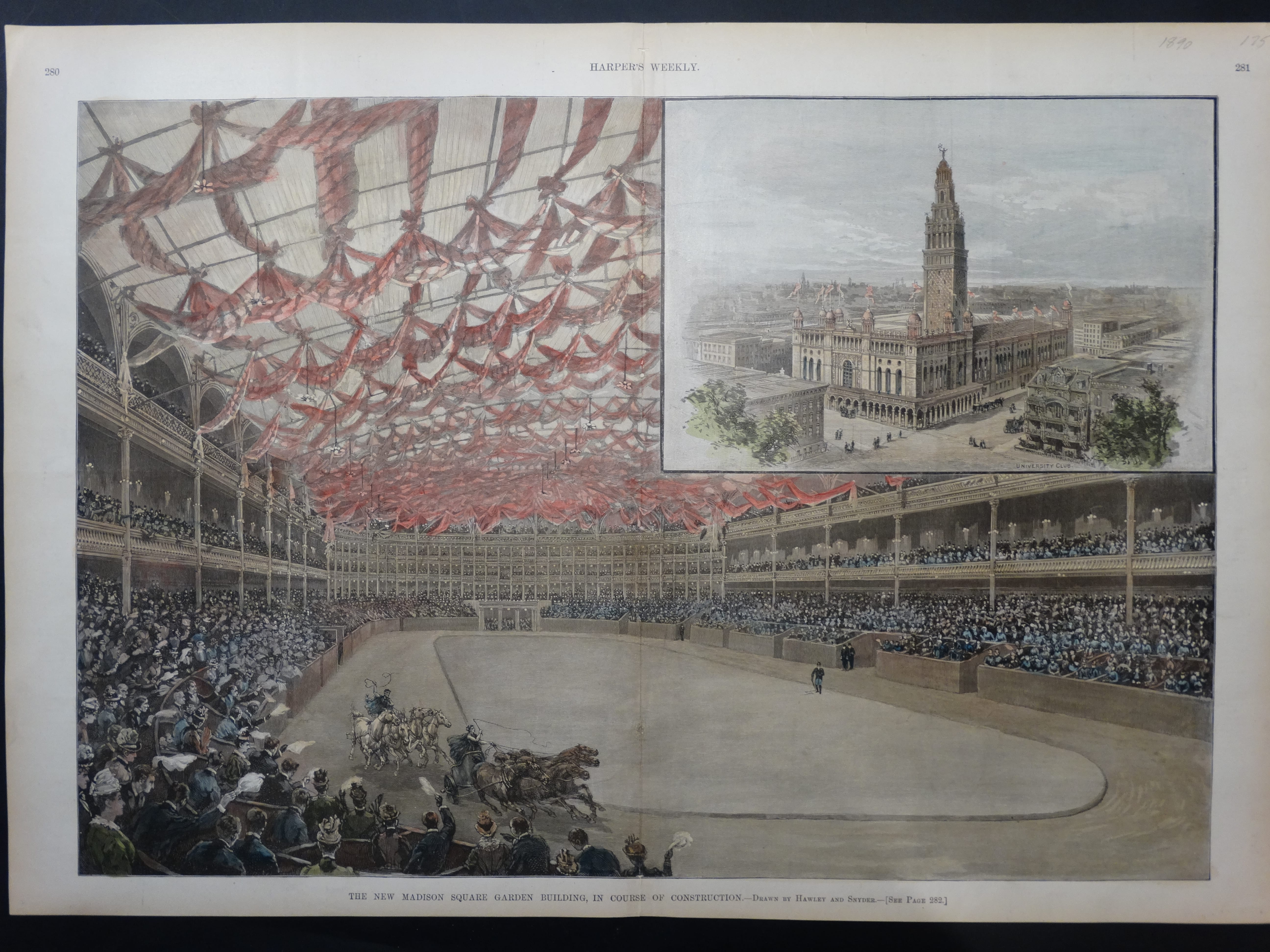Ny106 The New Madison Square Garden 1890 Anne Hall Antique Prints