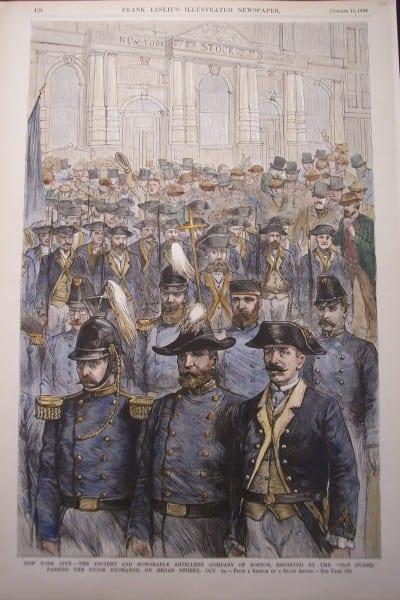 NYC, Artillary Company of Boston, October 13, 1883