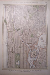 NYC, Map of Manhattan, Bronx c.1900 $75.