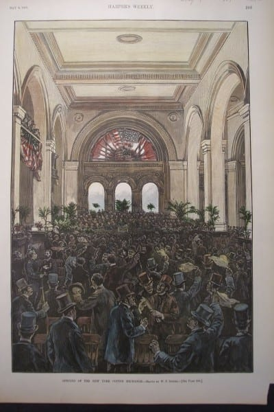 NYC, New York Cotton Exchange, May 9, 1885 $125.