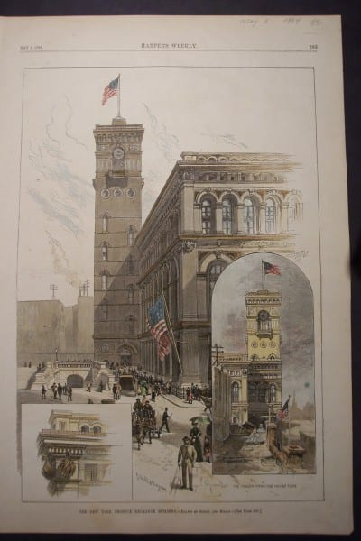 NYC, Produce Exchange Building, May 3, 1884 $85.