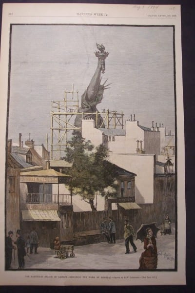 NYC, Statue of Liberty, Beginning Removal, August 9, 1884 $125.