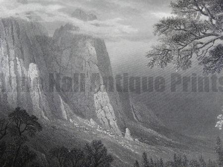 Old artwork, 19th century maps & antique engravings on America's National Parks