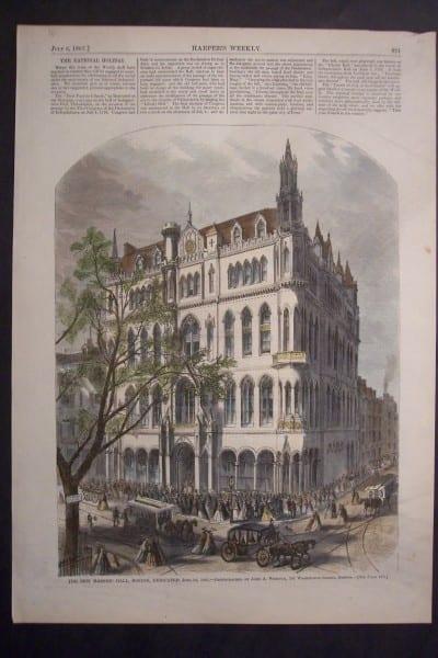 The new Masonic Hall, Boston, Dedicated June 24, 1867. $60.The new Masonic Hall, Boston, Dedicated June 24, 1867. $60.