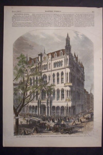 The new Masonic Hall, Boston, Dedicated June 24, 1867. $60.The new Masonic Hall, Boston, Dedicated June 24, 1867. $60.