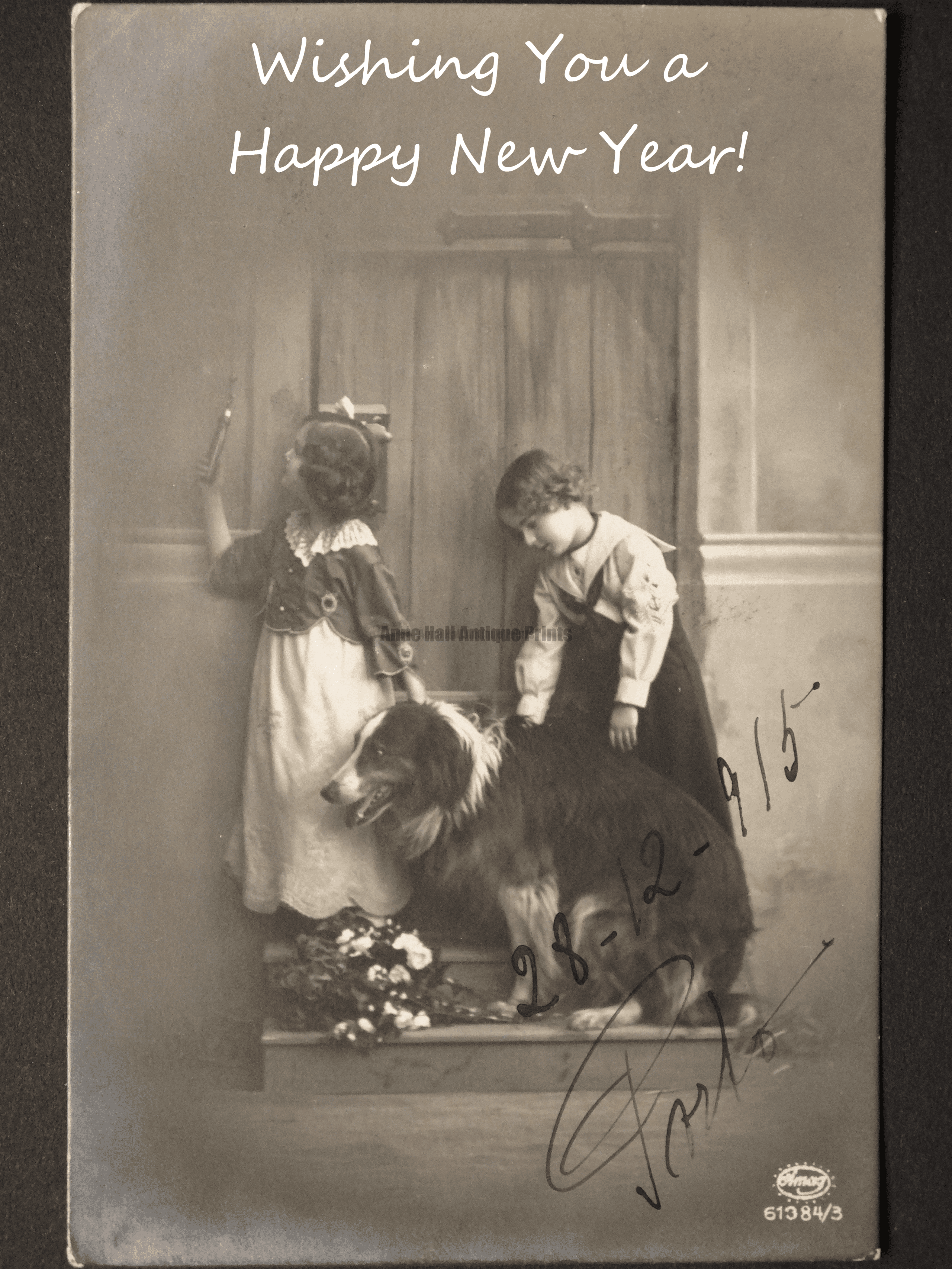 Wishing you a Happy New Year from Anne Hall Antique Prints!