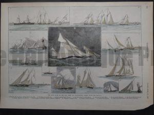 The June Races of the New York and Seawanhaka Yacht Clubs, 1889. $65.