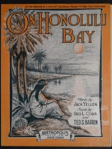 On Honolulu Bay, 1915.