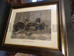 Out All Night, Manchester Terrier Dog Engraving Framed