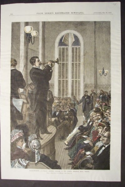 Massachusetts-A Sunday Evening Concert in the Parker Memorial Hall, Boston, May 10, 1879. $75.