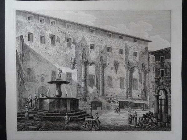Piazza di Palestrina, Roma 1826