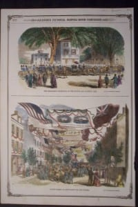 The President's Reception at the Boston and Roxbury Line, 1857. $60
