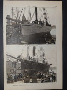 """The Sloop Yachts """"Puritan"""" and """"Priscilla"""" of Boston and New York, August 29, 1885. $50."""