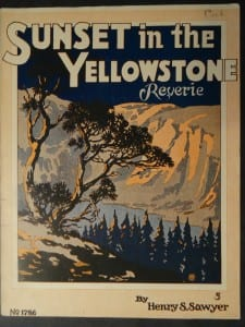Sunset in the Yellowstone, c.1930. $30.