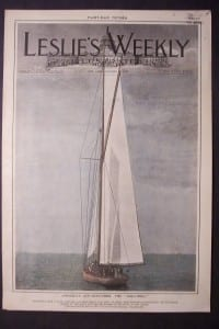 """America's Cup Defender, the """"Columbia,"""" October 21, 1899. $125."""