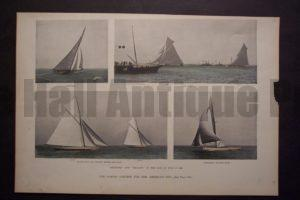 The Coming Contest for the America's Cup, 1895. $65.