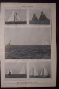 The Contest for Yachting Honors, 1899. $60.