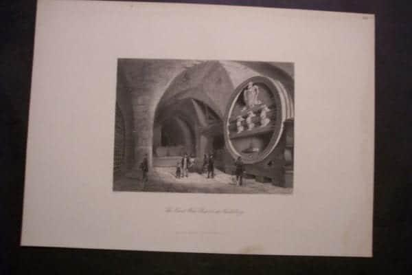 The Great Wine Barrel at Heidelberg c.1860.
