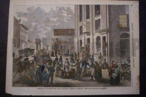 Corner of Washington and Boylston Streets, Boston.-The Old Boylston Market, 1857. $65.