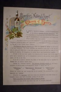 The Queen of Beers c.1890. $30.