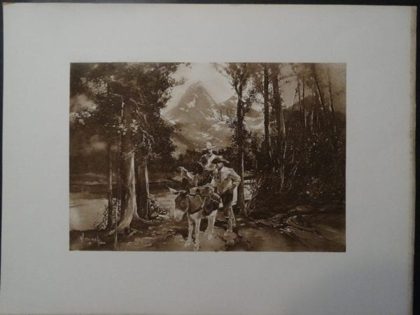 Artwork of the Grand Tetons National Park from the 19th century.
