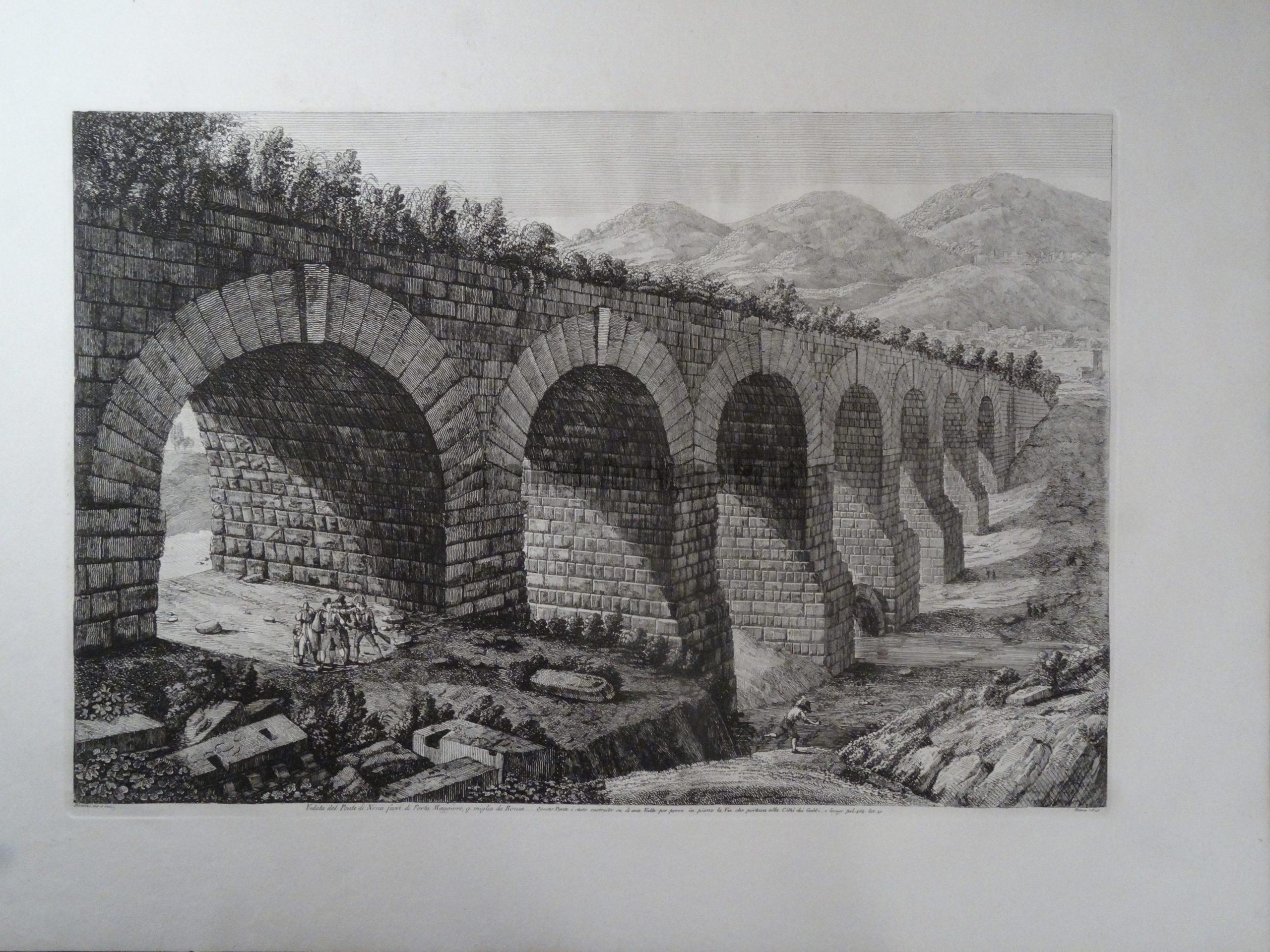 Veduta del Ponte di Nona, Roma 1823