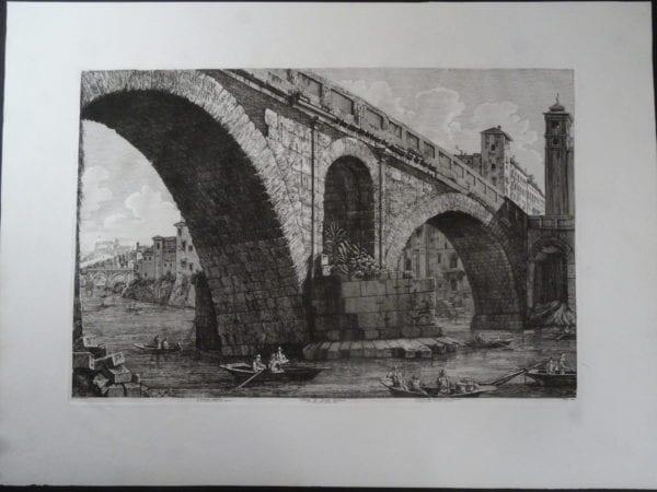 Veduta di Ponte Fabrizio, Roma 1822.