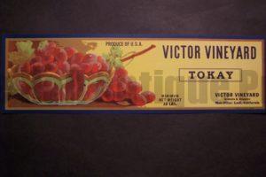 Victor Vineyard Label c.1930. $30.