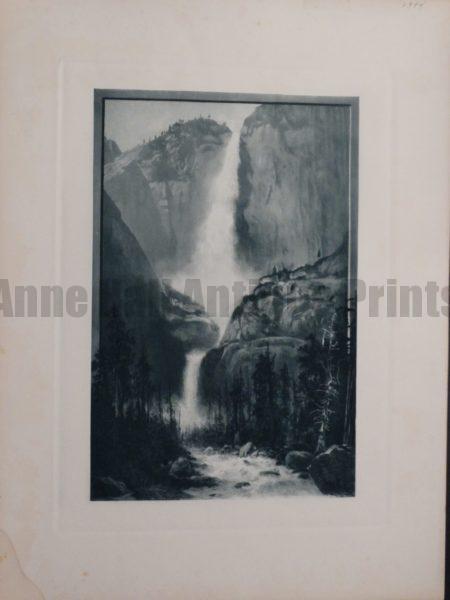 Waterfall at Yellowstone National Park , 1873. $60.