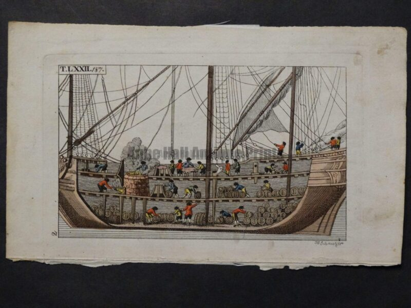 interior 18th century whaling ships