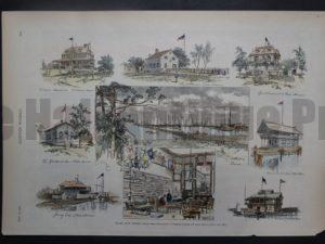 Yacht Club Houses, May 14, 1887. $65.