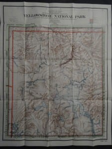 Yellowstone Map, 1910. $125.