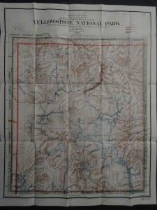 Yellowstone Map, 1910. $125.