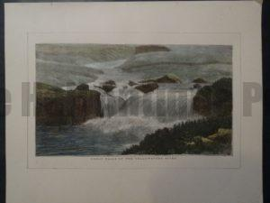 Great Falls of the Yellowstone River, 1873. $25.