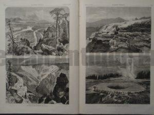 Different Sites at Yellowstone, 1873. $150.