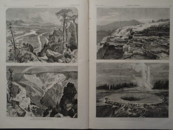 Different Sites and Views at Yellowstone NP in 1873